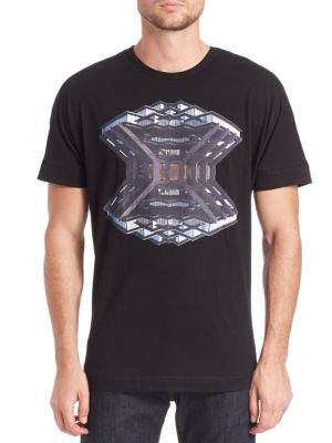 36 PIXCELL Library Graphic Tee in Black