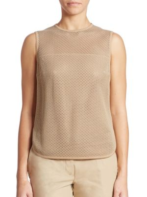 Sleeveless Mesh Top by Akris punto