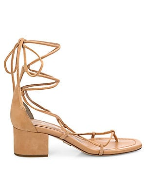 878415001e72 Aquazzura - Wild Fringed Suede Lace-Up Block Heel Pumps - saks.com
