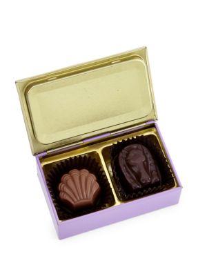 Green 2-Piece Chocolate Truffle Gift Box