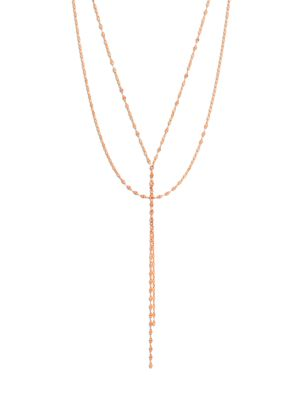 Blake 14 K Rose Gold Lariat Necklace by Lana Jewelry