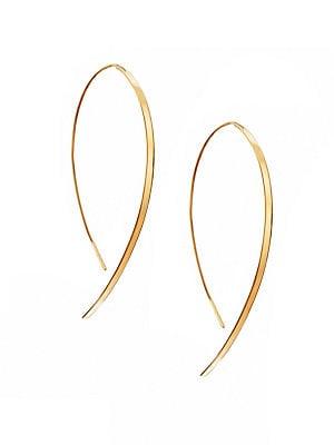 34b96c5a7f428d LANA JEWELRY - Hooked On Hoop Small 14K Yellow Gold Flat Hook Earrings