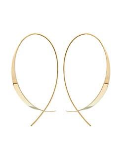 9042ce700e14f LANA JEWELRY. Gloss Updside Down 14K Yellow Gold Hoop Earrings