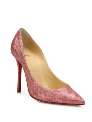 Decoltish 100 Glitter Point Toe Pumps by Christian Louboutin