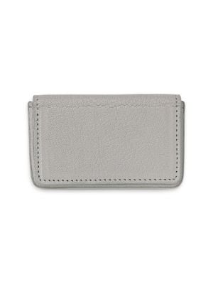 GRAPHIC IMAGE Magnetic Leather Card Case in Grey