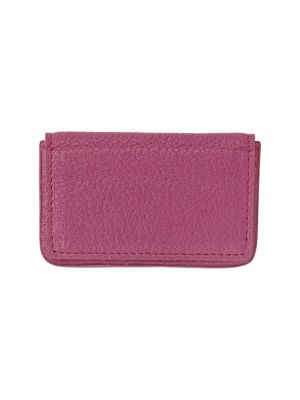 GRAPHIC IMAGE Magnetic Leather Card Case in Pink