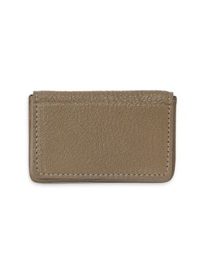 GRAPHIC IMAGE Magnetic Leather Card Case in Taupe