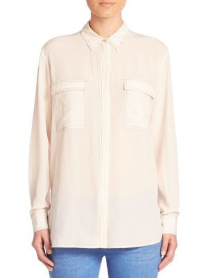 Contrast Stitch Button-Down Blouse by Stella McCartney