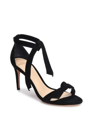 Alexandre Birman Leathers Patty Suede Ankle-Tie Sandals