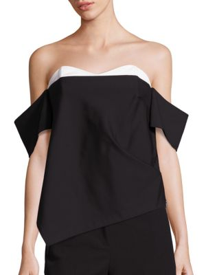 Agathe Corset Off-The-Shoulder Top by Tibi
