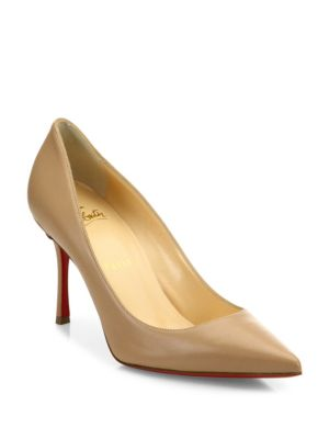 Decoltish 85 Leather Point Toe Pumps, Nude