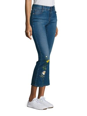 STELLA MCCARTNEY Denims Skinny Kick Flare Medium Wash Cropped Jeans