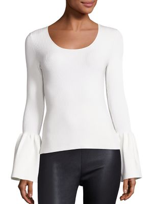 Willow Bell Sleeve Ribbed Top by Elizabeth and James