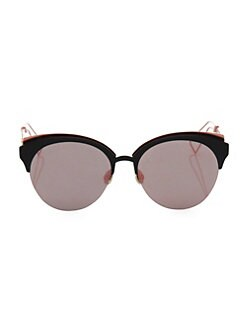 41c54a32114 QUICK VIEW. Dior. Diorama 55MM Rounded Clubmaster Sunglasses