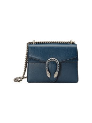 Dionysus Mini Leather Shoulder Bag in Blue