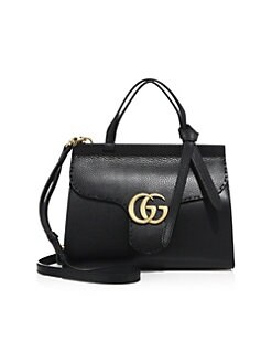 3f4bd5206 Gucci - GG Marmont Leather Top-Handle Bag
