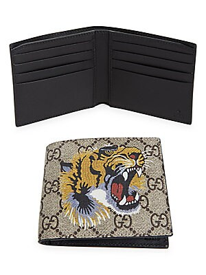 be0f6aab0bcd Gucci - GG Tiger Billfold Wallet - saks.com