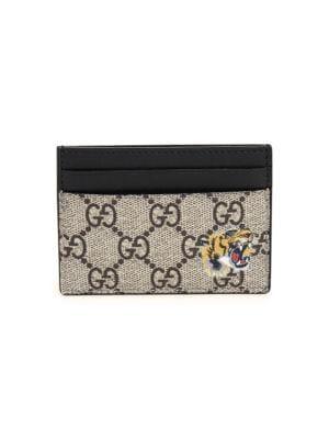 0f26a5c3f0d0 Gucci - GG Supreme Card Holder - saks.com
