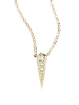 ILA Norya Diamond & 14K Yellow Gold Pendant Necklace