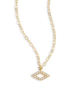 ILA Luciana Diamond & 14K Yellow Gold Pendant Necklace