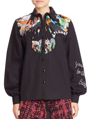 Dreamer Embroidered Shirt by Roberta Einer