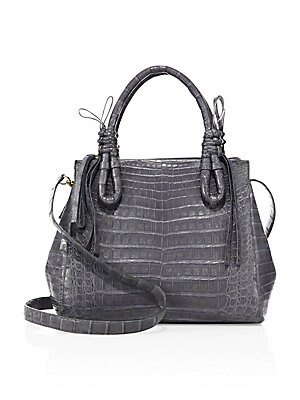 Nancy Gonzalez - Medium Double Tie-Knot Crocodile Tote 22214e32a29db