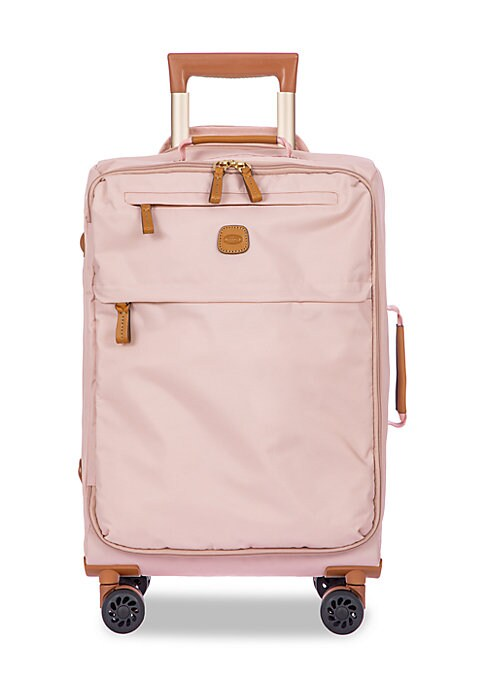 Image of Lightweight and waterproof, this practical spinner comes with multiple pockets to accommodate all accessories. Expandable top handle. Top and side carry handles. Top double zip-around closure. Front logo detail. Two external zip compartments. Four-wheel s