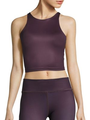 Diana Back Cutout Crop Tank Top by VIE ACTIVE