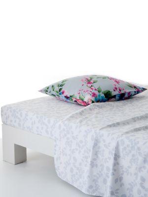 Jardin D Hiver Cotton Full Queen Flat Sheet