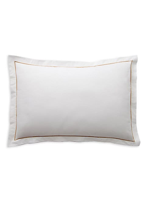 "Image of Subtle feather patterns adorn this alluring pillow cases crafted from combed cotton for ultimate comfort. Includes 2 pillow cases.32""W X 22""H.Combed cotton. Machine wash. Made in Spain."