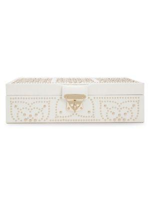 'Marrakesh' Flat Jewelry Box - Ivory, Cream