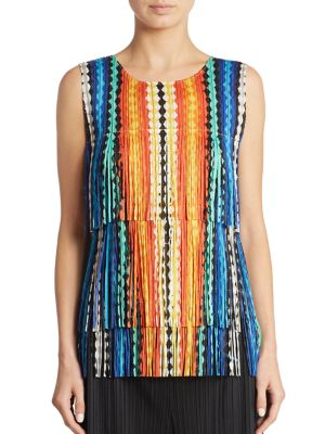 Printed Tiered Top by Pleats Please Issey Miyake