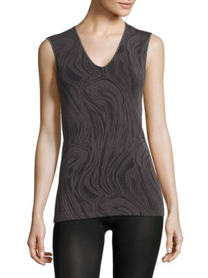 Marble-Print Tank Top by Wolford