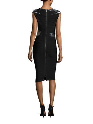 HERVE LEGER Downs Janelle Cocktail Dress