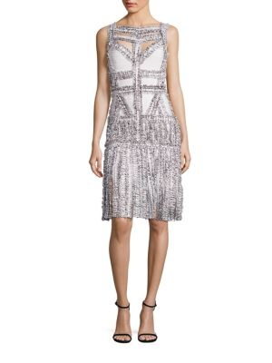 Buy Herve Leger Joselyn Frayed-Detail Cocktail Dress online with Australia wide shipping