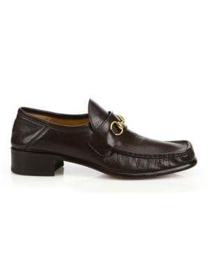 0a2fb53f130e Gucci - Leather Fringe Horsebit Loafer - saks.com
