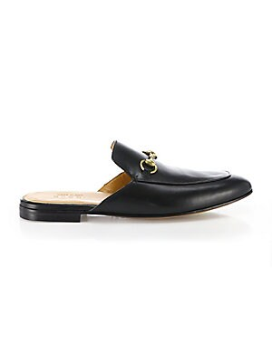13764fc1a35 Gucci - Kings Leather Slippers - saks.com