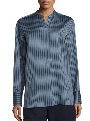 Striped Silk Tunic by Vince