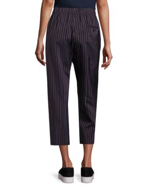 VINCE Cropped pants Striped Cropped Pants