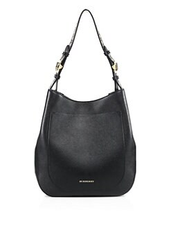 bf3ade8740 Burberry Elmstone Small Leather Hobo Bag