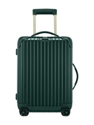 Image of Classic textured spinner suitcase offers ample space for storing your apparels, accessories and essentials. Retractable top carry handle. Top and side handle. Zip closure. TSA Integrated lock. Four-wheel system. Interior elastic security straps. Adjustabl