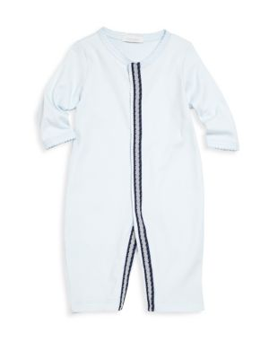 Babys Snap Front VNeck Coverall