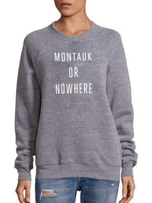 Montauk Or Nowhere Graphic Sweatshirt by Knowlita