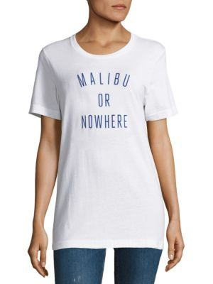 Malibu Or Nowhere Cotton Graphic Tee by Knowlita