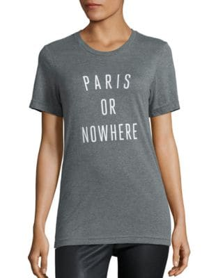 Paris Or Nowhere Heathered Graphic Tee by Knowlita