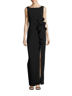 Buy Nero by Jatin Varma Ruffle Column Gown online with Australia wide shipping