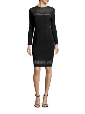 Candice Crepe Lace Trim Dress