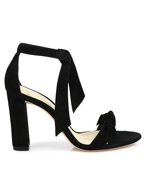 Clarita Bow Suede Sandals