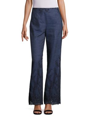 Embroidered Denim Trousers by Yigal Azrouel
