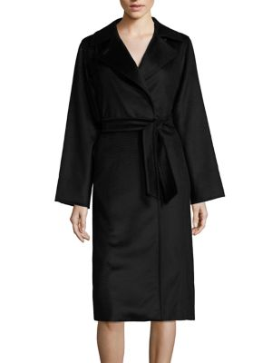 Manuela Wrap Coat in Black